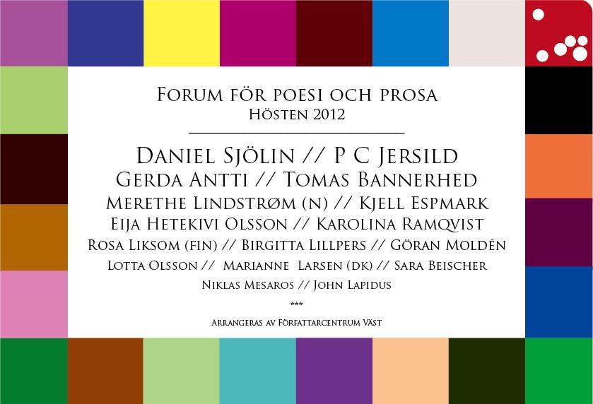 Forum för poesi och prosa - Hösten 2012
