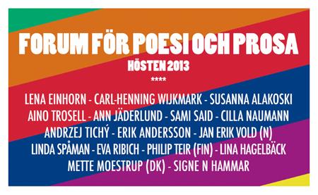 Forum för poesi och prosa - Hösten 2013
